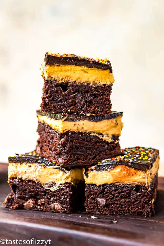 how to make pumpkin cheesecake brownies