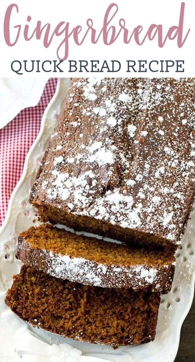 Soft, moist, molasses quick bread is perfectly seasoned with ginger and nutmeg. Gingerbread Loaf gives that classic holiday flavor that you love!