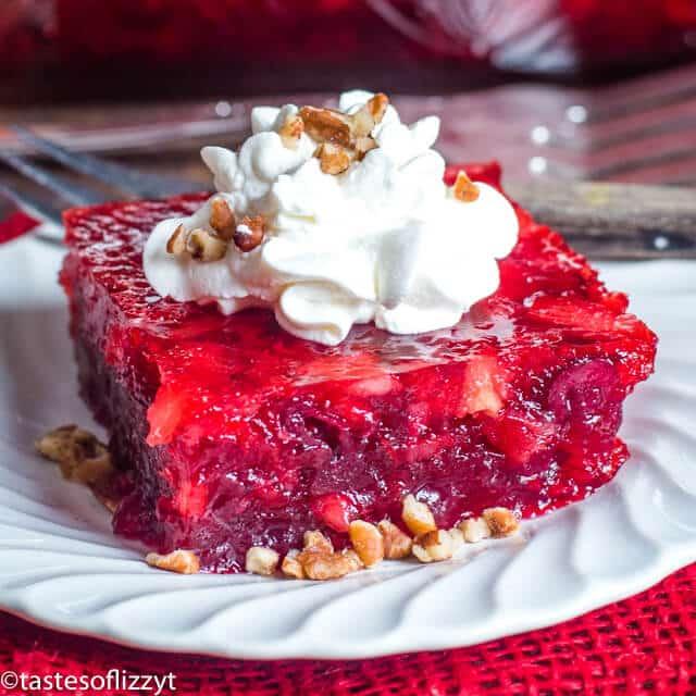 Cranberry Jello Salad {Easy Christmas Fruit Dessert Or