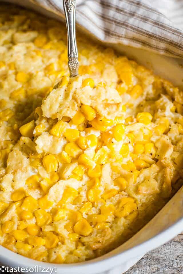 Scalloped Corn Casserole Recipe Easy Vegetable Side Dish