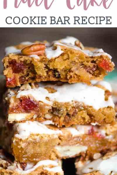 Fruit Cake Cookie Bars