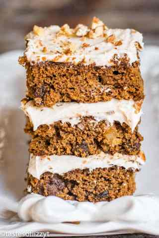 molasses fruit bars with cream cheese frosting