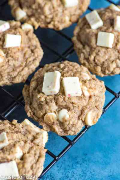 Gluten Free Peppermint Oatmeal Cookies