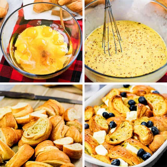 how to make eggnog breakfast casserole with croissants