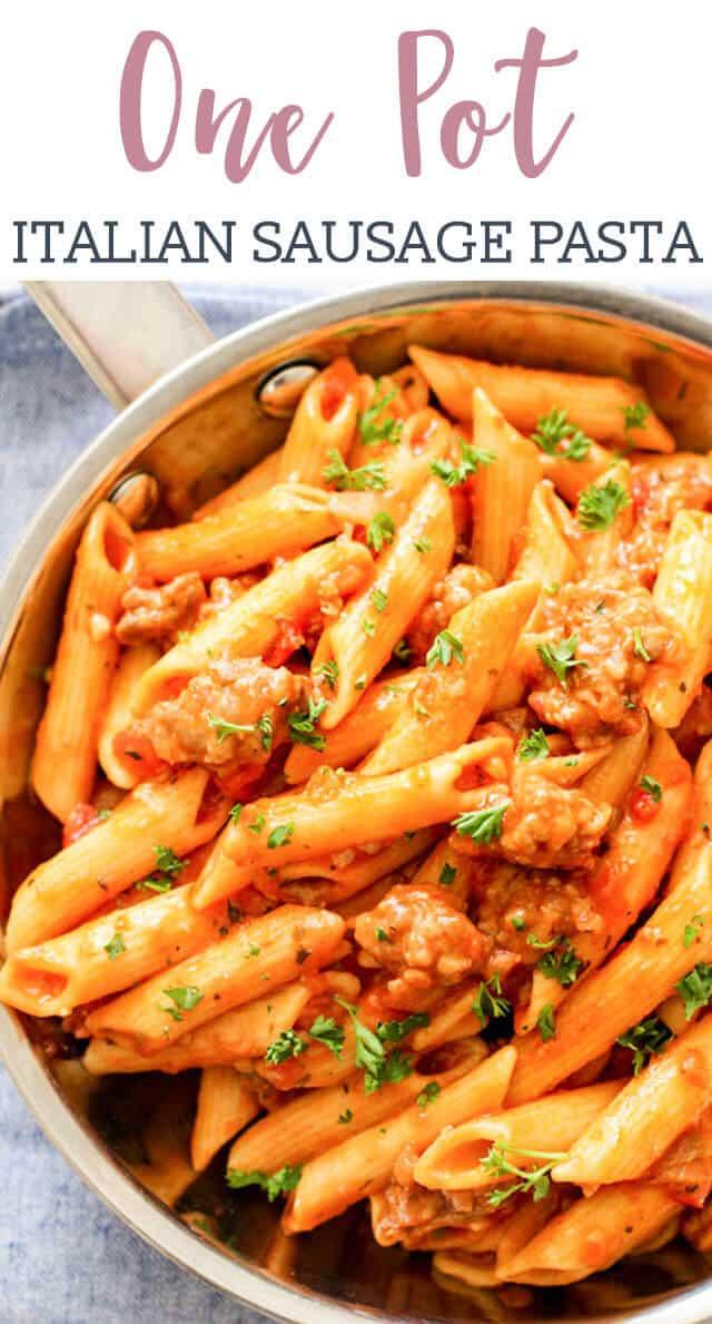 titled image of One Pot Italian Sausage Pasta