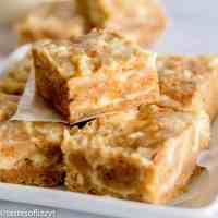 Cream Cheese Carrot Cake Bars on a plate