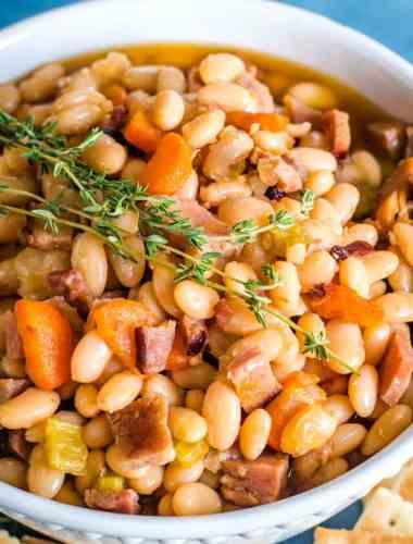 Ham and Bean Soup with ham bone broth