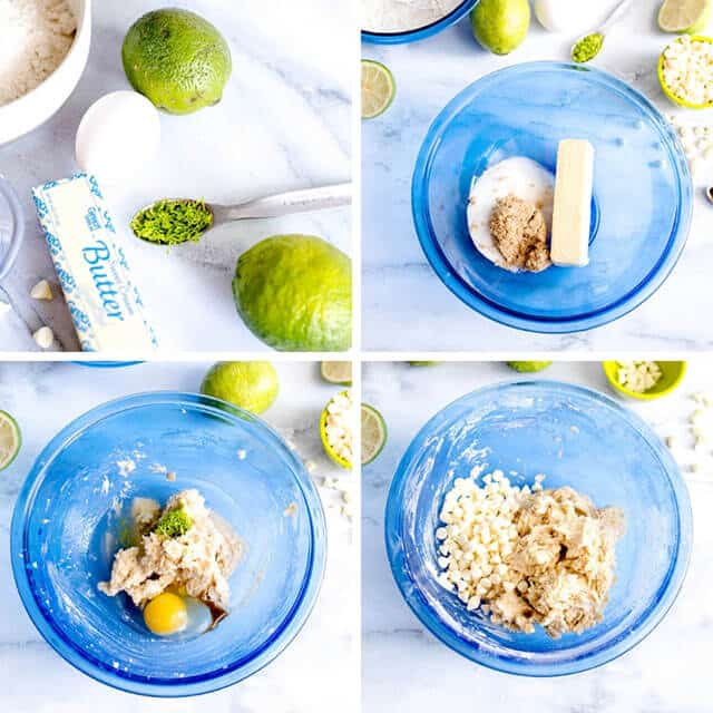 making a key lime sugar cookie recipe