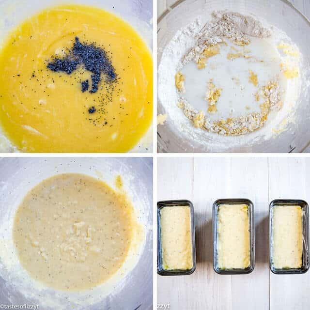 step by step photos for a lemon poppy seed bread recipe