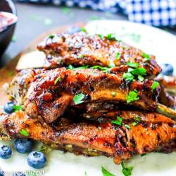 Instant Pot Blueberry BBQ Ribs square image