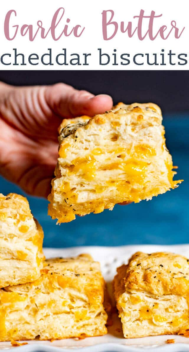 """Garlic lovers will love these cheesy Cheddar Bay Biscuits. Use our special """"folding"""" technique to get fluffy layers in each biscuit. Better than Red Lobster Biscuits!"""