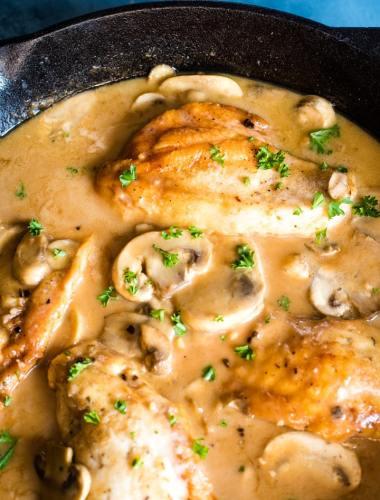 Chicken Marsala with mushroom sauce