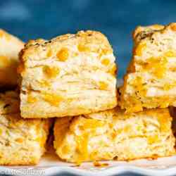 Cheddar Bay Biscuits with cheddar cheese