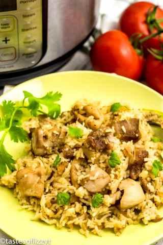 Salsa Verde Chicken and Rice