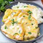 Slow Cooker Pork Chops and Gravy with mashed potatoes