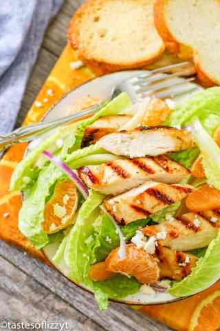 salad with oranges and chicken
