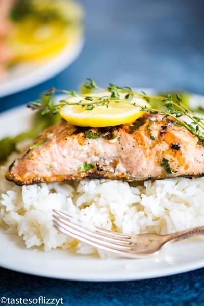 salmon with lemon and thyme