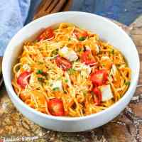 Roasted Pepper Pasta Sauce in a bowl