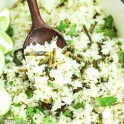 Asparagus Cilantro Lime Rice