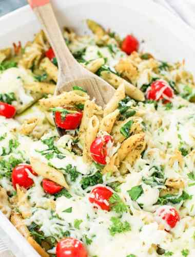 easy Pesto Pasta Bake