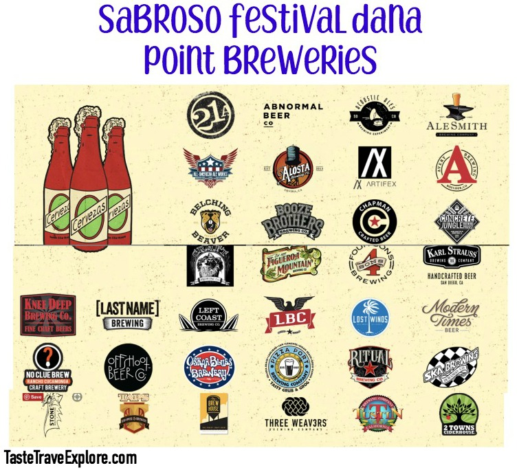 Sabroso Taco Fest Breweries listed