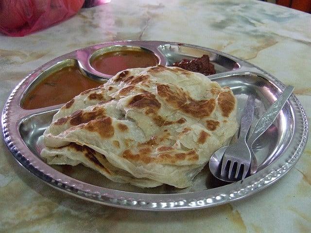 Roti Canai Malaysian Breakfast