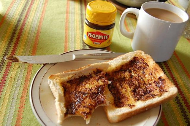 Typical Australian Breakfast - Vegemite