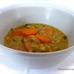 Tasting Good Naturally : Soupe aux lentilles corail et carottes #vegan