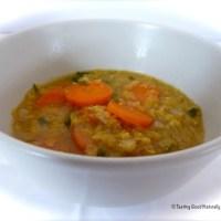 Soupe aux lentilles corail et aux carottes - Vegan -