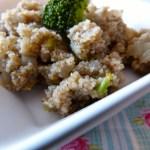 Tasting Good Naturally : Fonio aux oignons caramélisés sans matière grasse #vegan