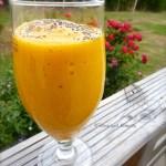 Smoothie à la mangue, banane et abricots – Vegan