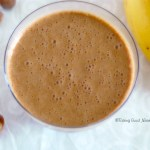 Smoothie végétalien à la banane, cacao cru et quinoa germé #vegan