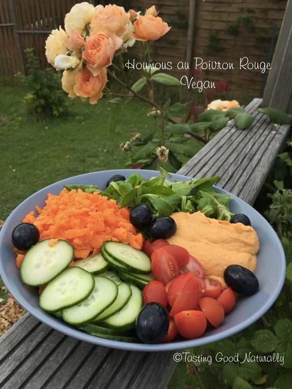 Houmous au Poivron Rouge Vegan - Tasting Good Naturally
