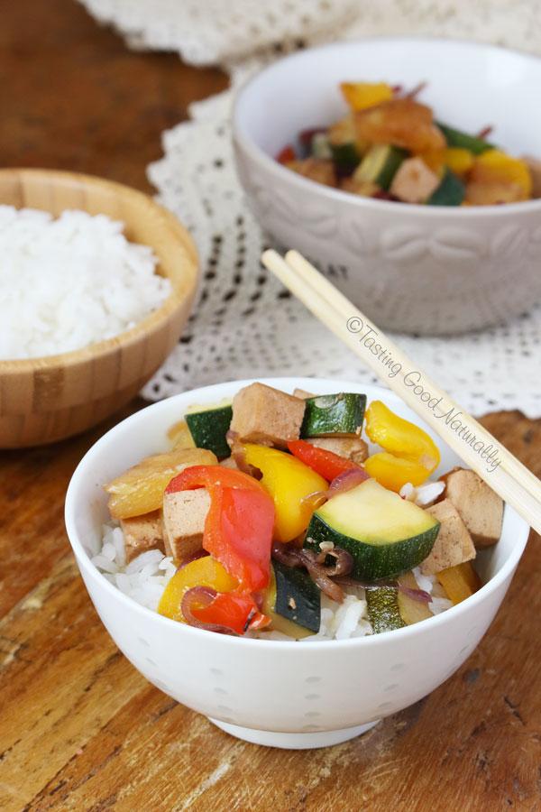 Tasting Good Naturally : Tofu à la sauce aigre douce #vegan