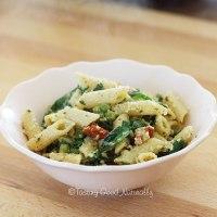 Pâtes aux légumes et pesto citron basilic #vegan