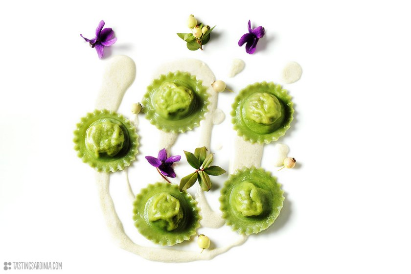 green ravioli combining innovation and tradition