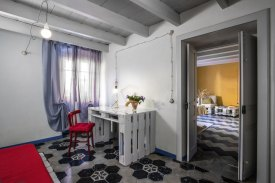 Guest room and living room of Ventanas abode