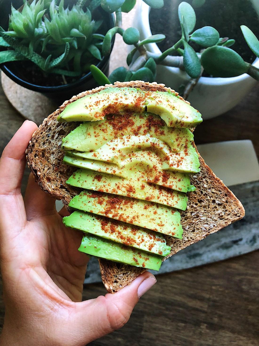 Avocado toast-Healthy fats in avocado