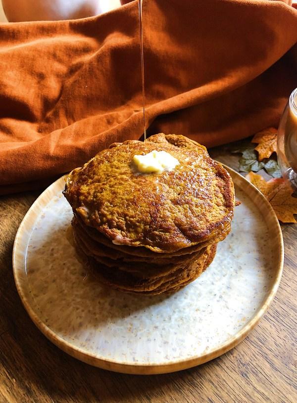 Pumpkin Spice Vegan Pancakes [Gluten-Free, 20-Minutes]