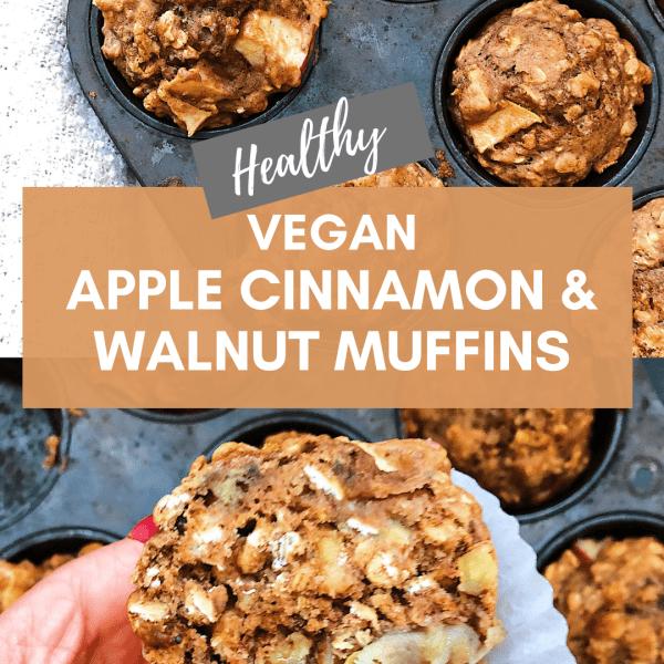 APPLE CINNAMON AND WALNUT Vegan MUFFIN Recipe