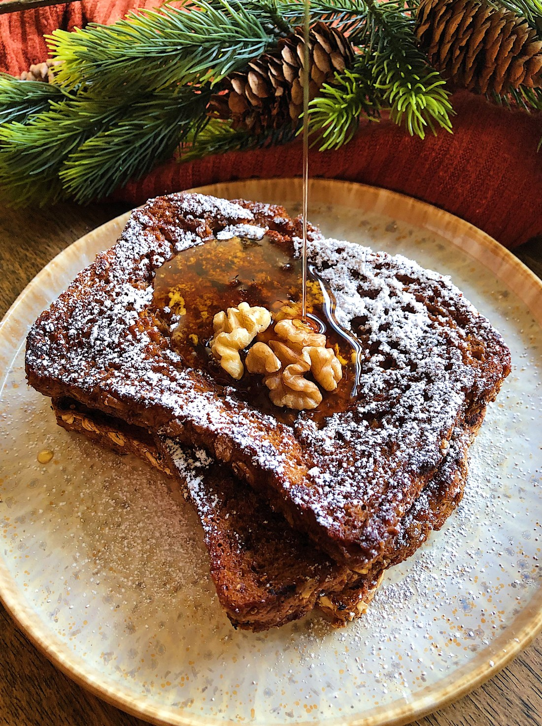 Gingerbread Vegan French Toast