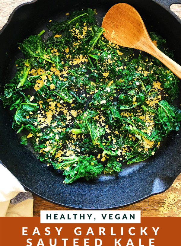 HEALTHY VEGAN Easy Garlicky Sauteed Kale