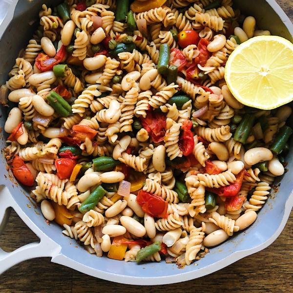 healthy Vegan Rainbow Veggie Pasta Recipe