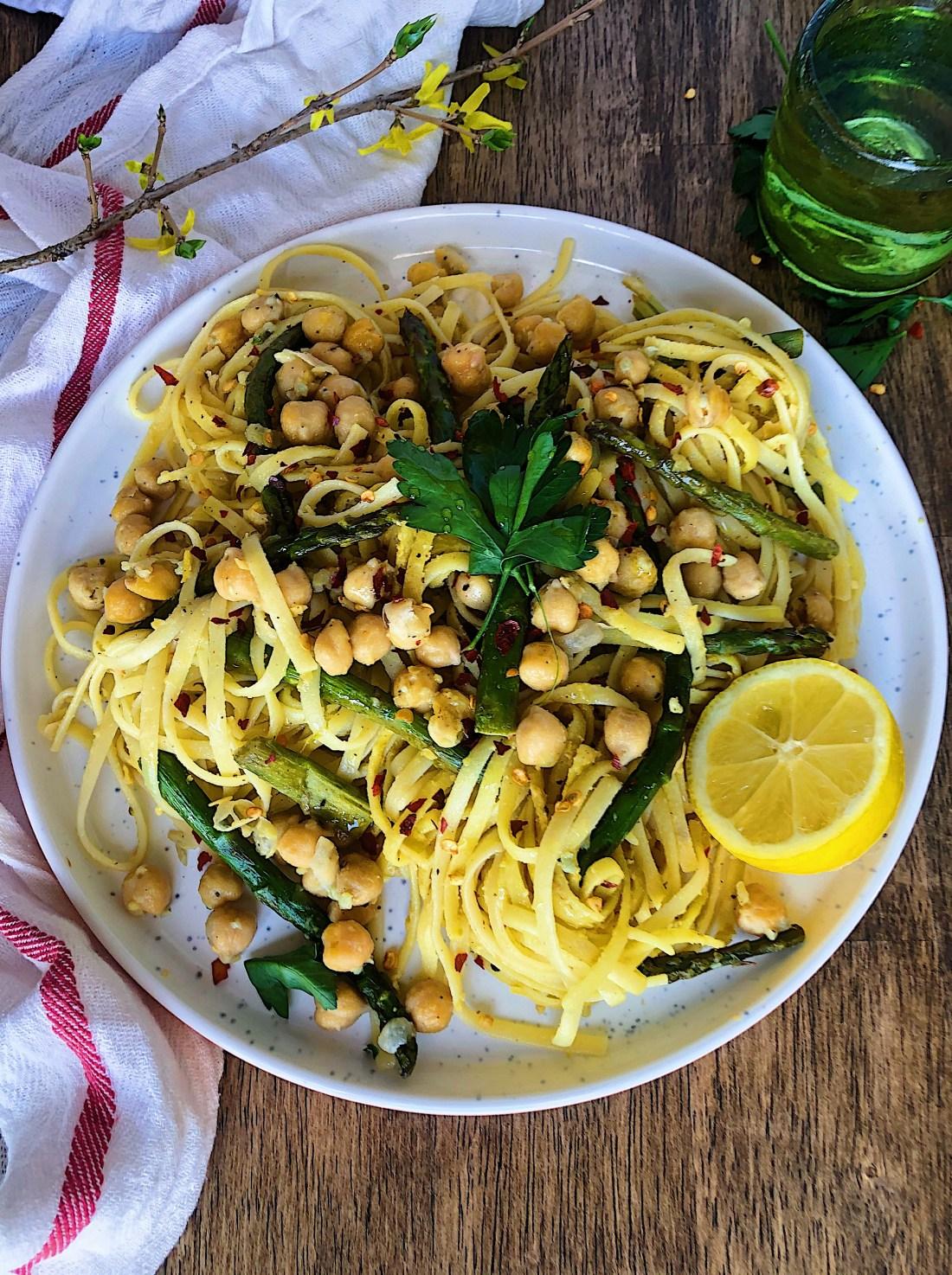 Vegan Lemon Asparagus Pasta