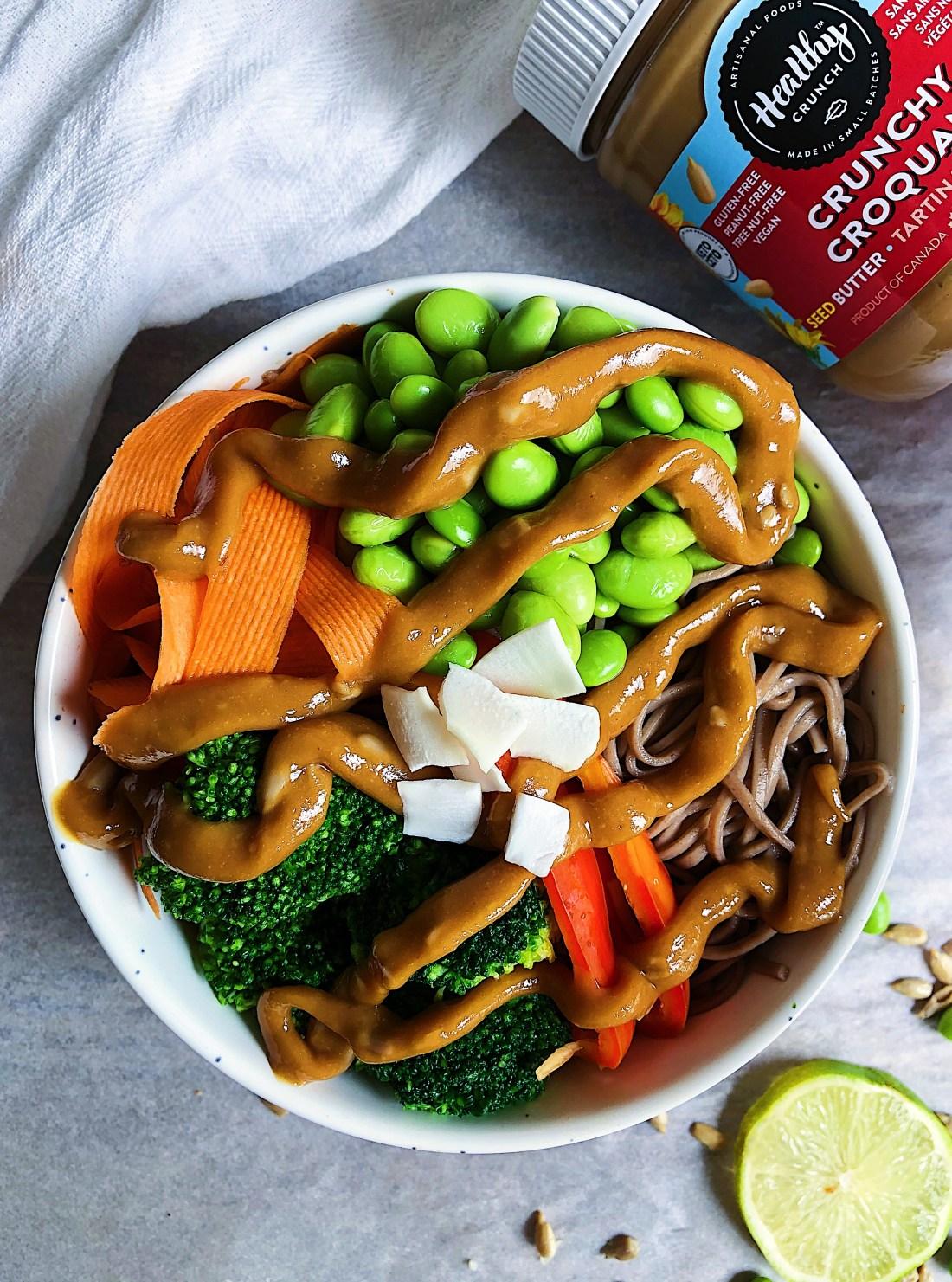 Sunflower Sesame Noodle Bowl