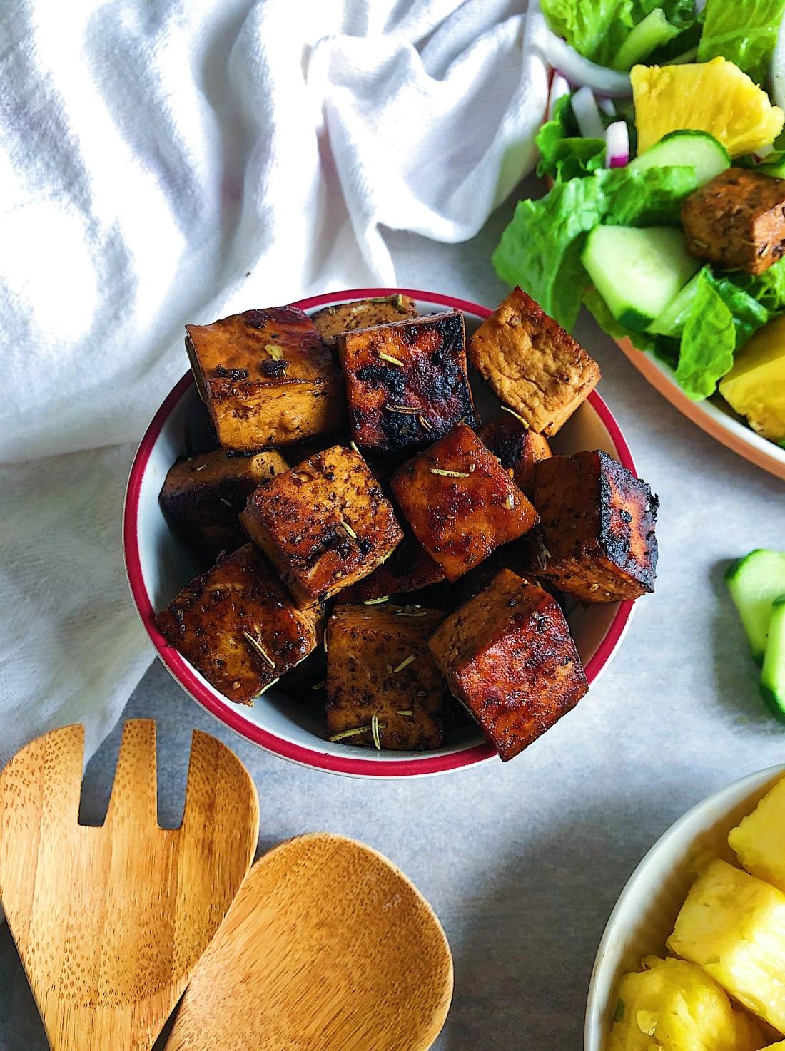 Balsamic glaze tofu salad 2