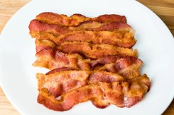 Crunchy Cooked Bacon.