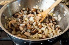 Saute the Mushrooms and Onions.