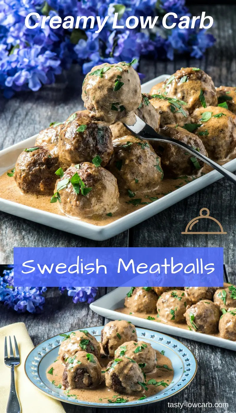 Swedish Meatballs - Creamy and Low Carb - Tasty Low Carb