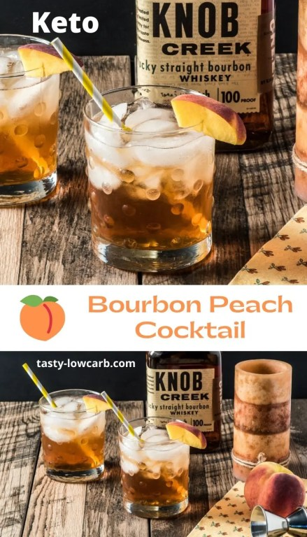 Keto Bournon Peach Cocktail Pin